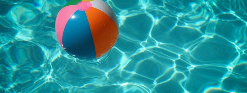 white and multicolored beach ball